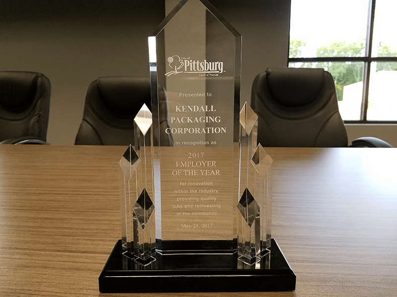 Kendall Packaging Employer of the Year Award