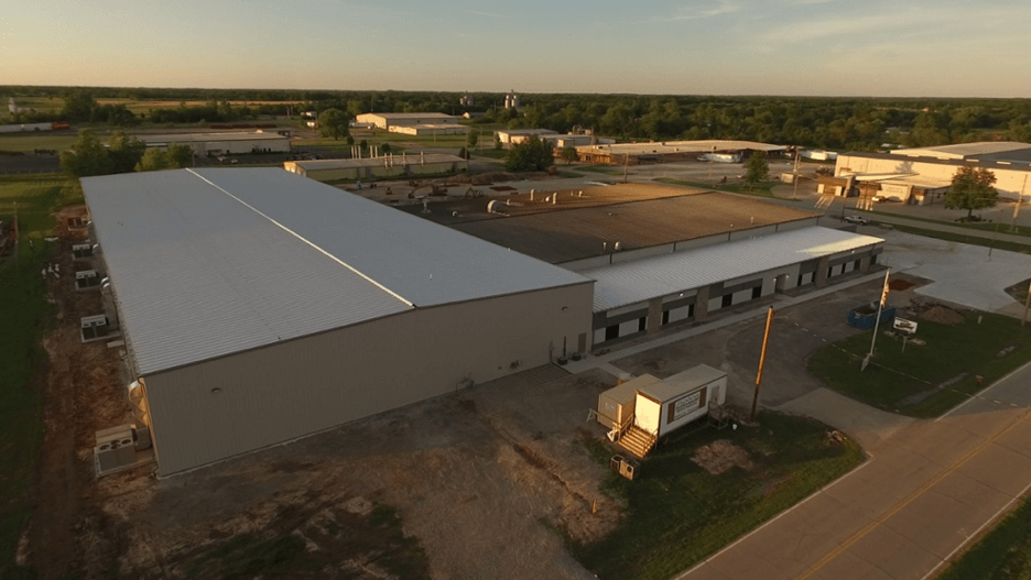 Kendall Packaging Pittsburg Expansion Aerial