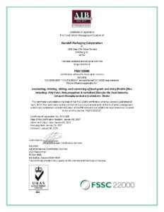 Kendall Packaging Achieves GFSI Certification - Kendall